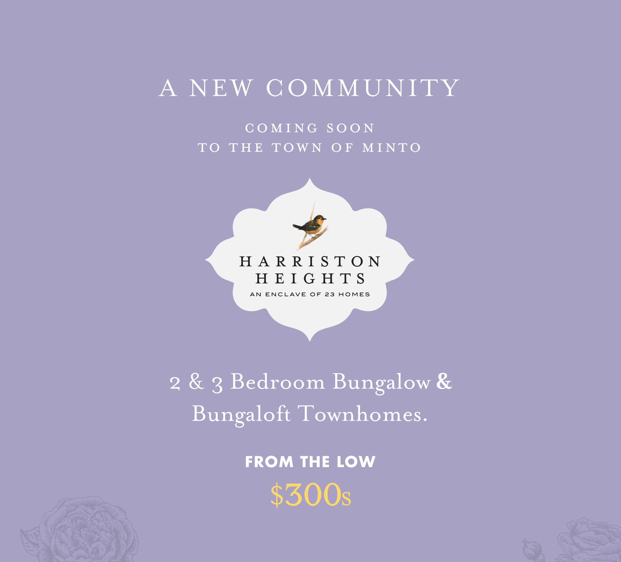 Harriston Heights - A New Comminity - Coming Soon